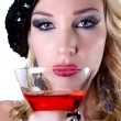 Beautiful Woman and her Martini — Stock Photo #8098540