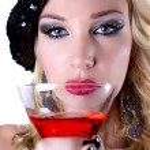 Beautiful Woman and her Martini — Stock Photo #8098540
