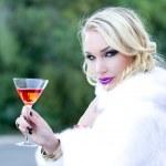Beautiful Woman and her Martini — Stock Photo #8098668