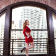 Beautiful Woman in Santa Outfit — ストック写真 #8098882