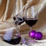 Wine and Christmas — Stock Photo