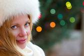Blonde Beauty in Winter — Stock Photo