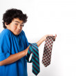 Young Asian Teen Boy with Neckties — Stock Photo #8164426