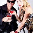 Party Time with Red Apple Martini's — Stock Photo #8164564