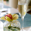 Champagne and Orchid — Stock Photo #8164807
