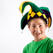 Jester in Green — Stockfoto