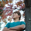 Handsome Teenager Outdoors — Stock Photo