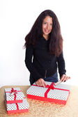 Gift Wrapping — Stock Photo