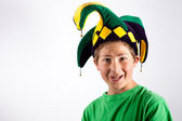 Jester in Green — Stock Photo