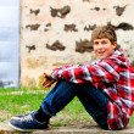 Portrait of a self assured Teen Boy — Stock Photo #8224932