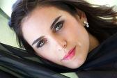 美丽的黑发 — 图库照片