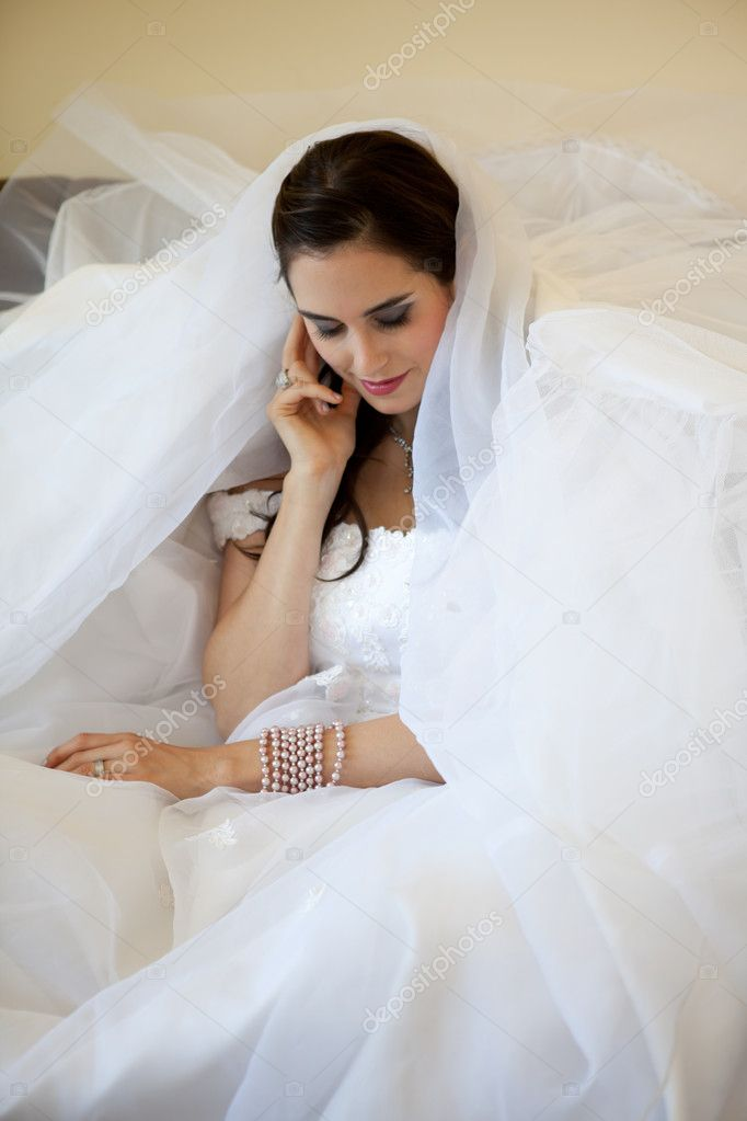 Beautiful Brunette Bride  — Photo #8224676