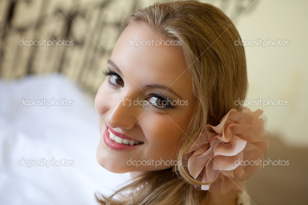 Beautiful Blond Bride   Stock Photo #8224853
