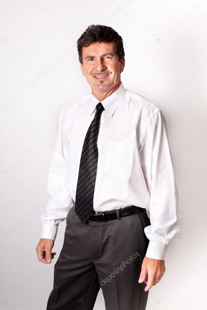 Handsome Businessman Isolated on white — Stock Photo #8225114