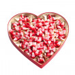 Valentine corn candy — Stock Photo