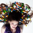 Pretty Girl with Candy Makeup — Stock Photo #8493293