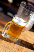 Mug and Pitcher of Beer — Stock Photo