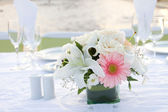 Floral Table Setting — Stock Photo