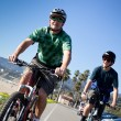 Father and Son Biking — Stock Photo