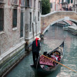 Stock Photo: Gondolier and gondola