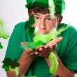 St Patricks Day Cute Teenager with Green hat — Stock Photo #9292547