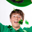 St Patricks Day Cute Teenager with Green hat — Stock Photo #9292619