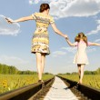 Foto Stock: Mother with daughter