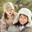 Mum with a daughter — Stock Photo
