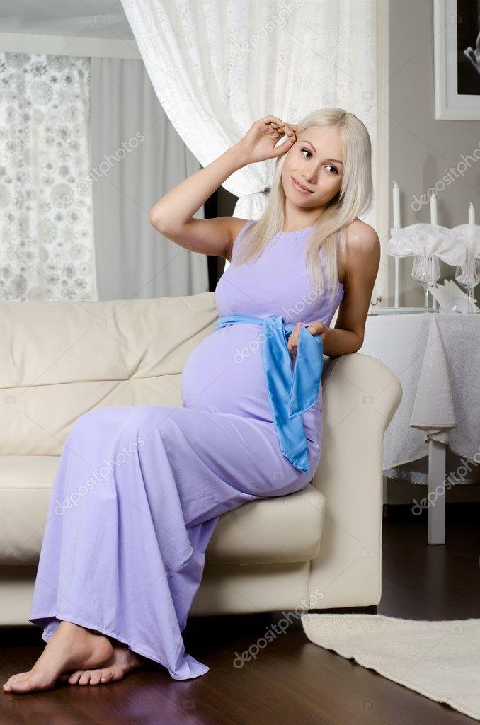 Фото красивых блондинок беременных