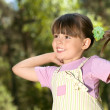 Stock Photo: Little beautiful girl