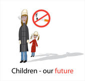 Children - our future! — Vector de stock