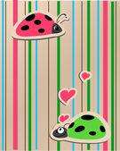 Ladybirds in love — 图库照片