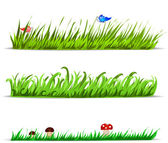 Set of vector grass — Stock Vector