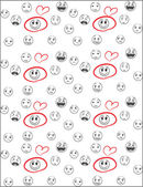 Love smiles background — Stock Vector