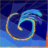 Mosaics gragon — Stock Vector