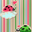 Ladybugs in love — Vettoriali Stock