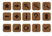 Wooden icons set — Stock Photo
