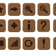 Wooden icons set — Stock Vector #9794008
