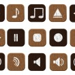 Stock Vector: Music icons set