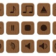 15 music icons set. - Image vectorielle