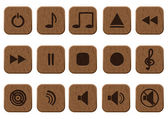 15 music icons set. — Stock Vector