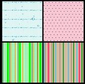 Set van 4 naadloze texturen — Stockvector