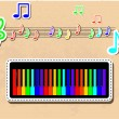 Piano and notes musical set. - Image vectorielle