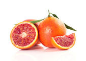 Blood red oranges isolated on white background — Stock Photo