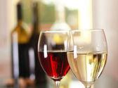 Art wine glasses — Stock Photo