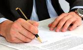 Ondertekenen van contract — Stockfoto
