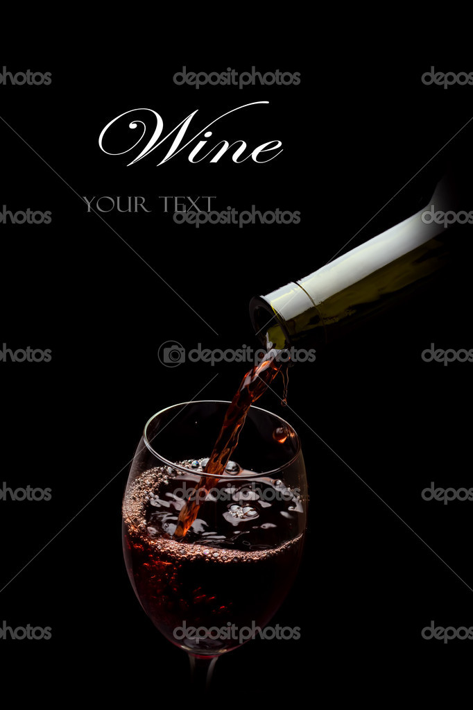 Red wine glass — Stock Photo #9037484