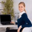Attractive businesswoman — Stock Photo