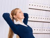 Atractiva mujer de negocios — Foto de Stock