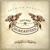Luxury premium quality and guarantee label — Stock Vector